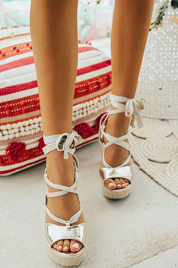 St. Thomas Getaway Metallic Wedge