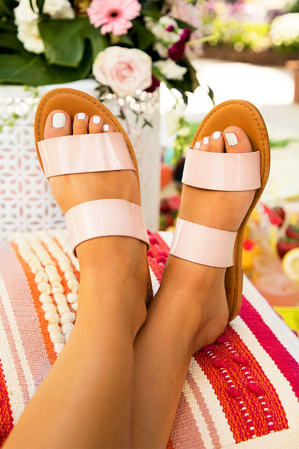 The Malibu Sandal in Blush