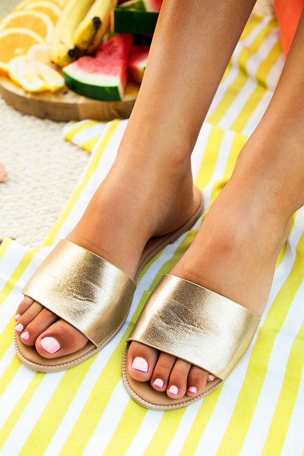 Resort Chic Sandal in Gold