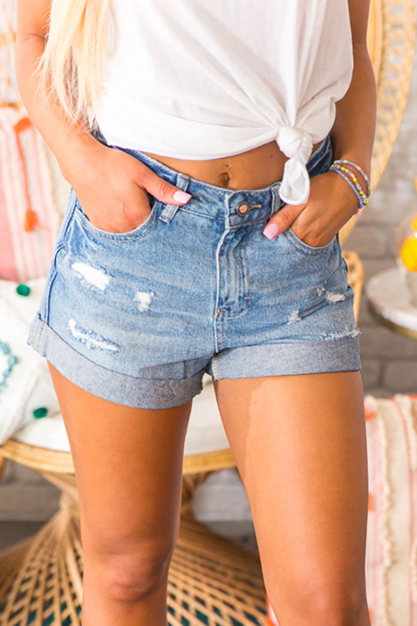 Kokomo High Waist Distressed Shorts