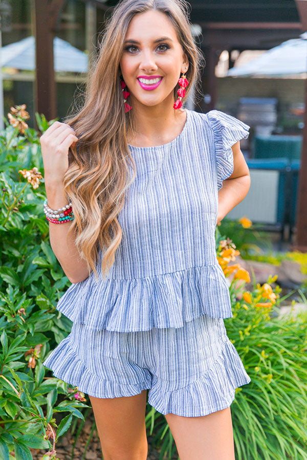 Patio Party Stripe Shift Top