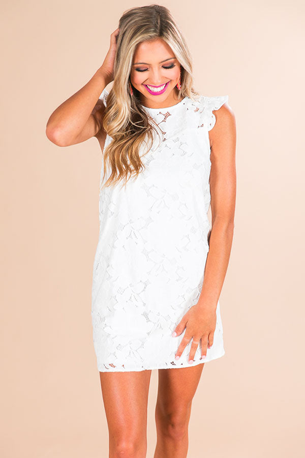 Stay Gorgeous Crochet Dress in White