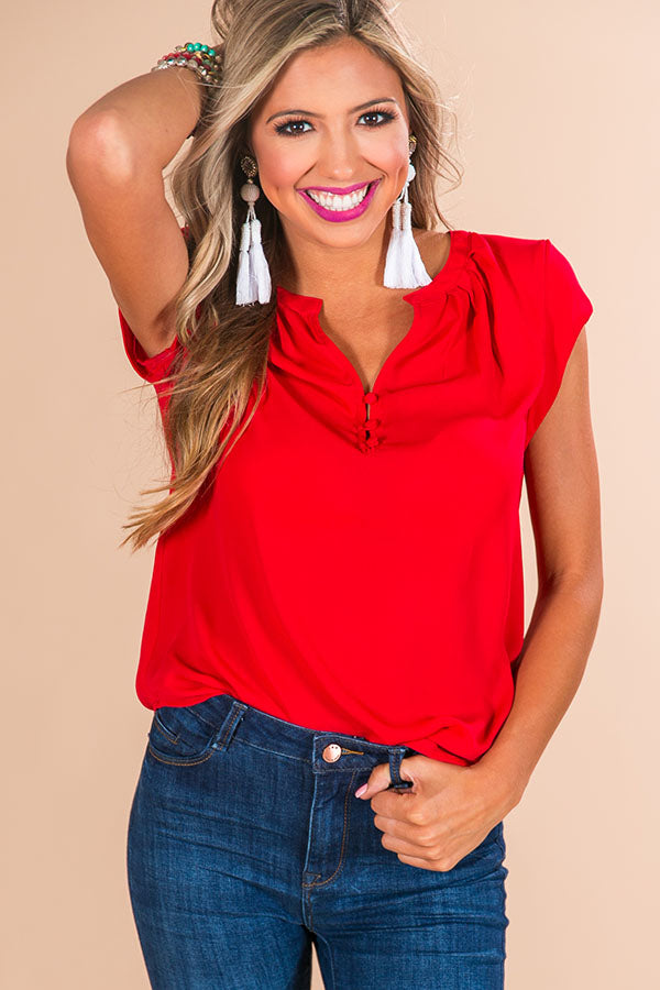 Absolutely Everything Shift Top In Red