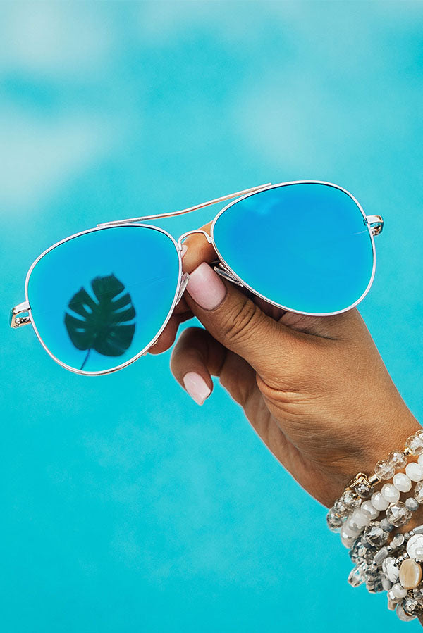 Summer Nights Aviator Sunnies in Sapphire