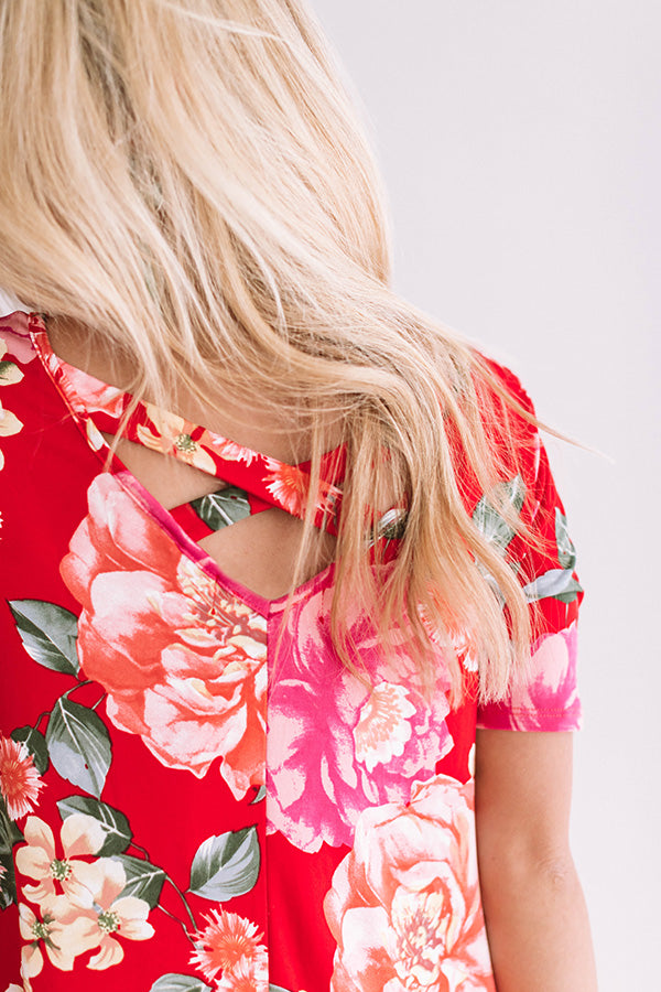 Peony Perfection Midi in Red