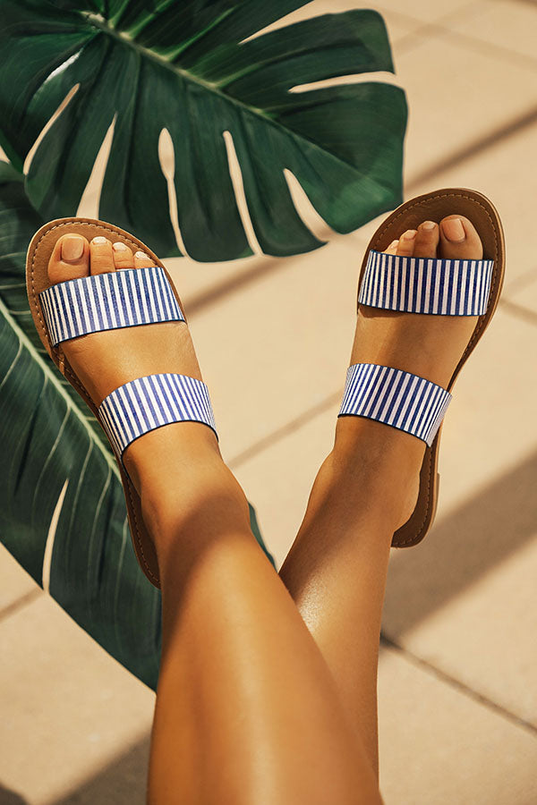 The Haven Stripe Sandal In Blue