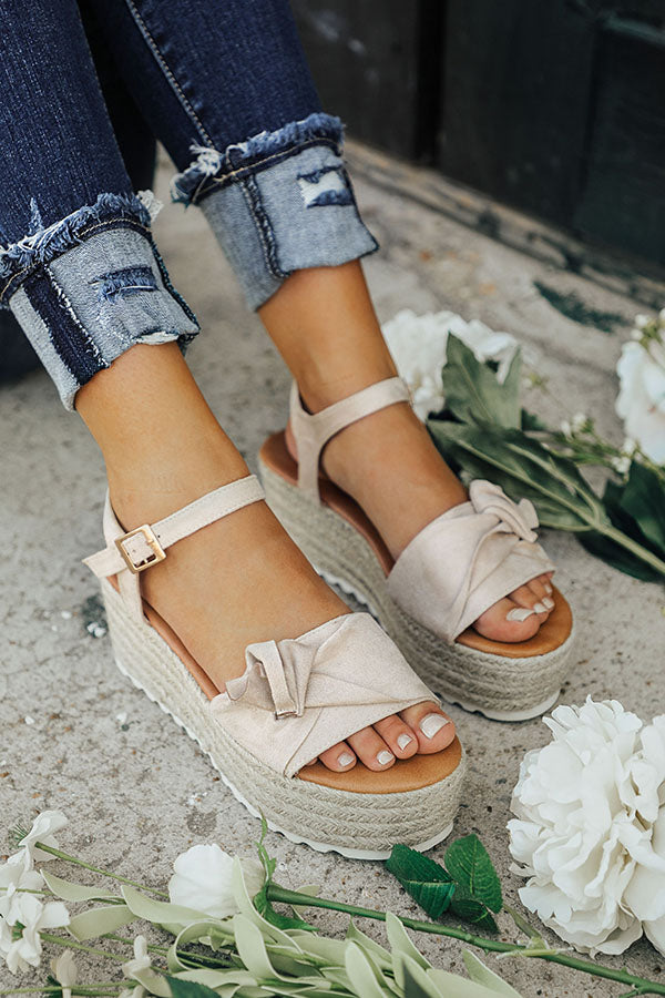 San Francisco Bow Espadrille in Stone