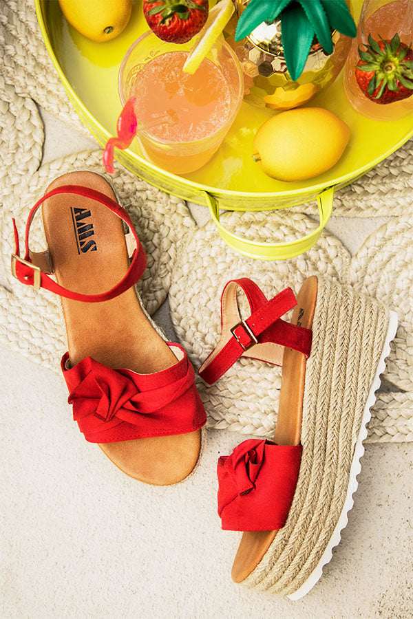 San Francisco Bow Espadrille in Red