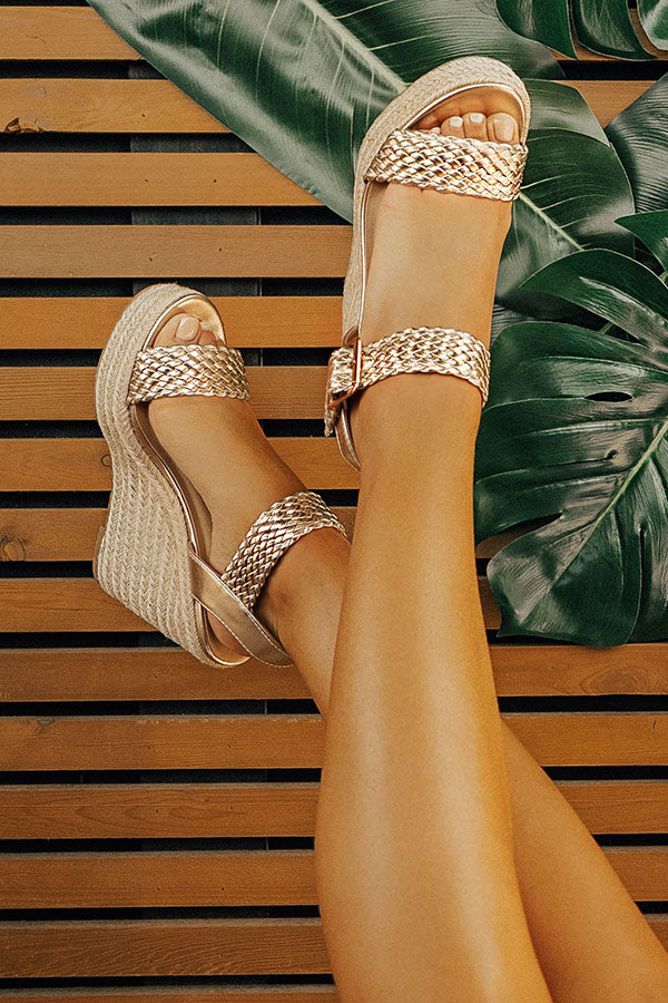 The Olivia Wedge in Gold