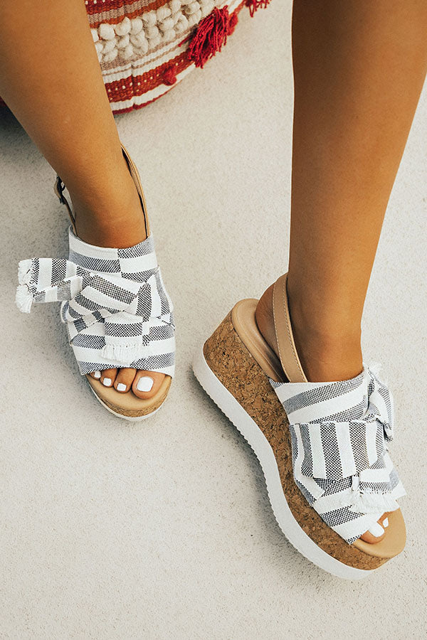 The Mila Stripe Wedge