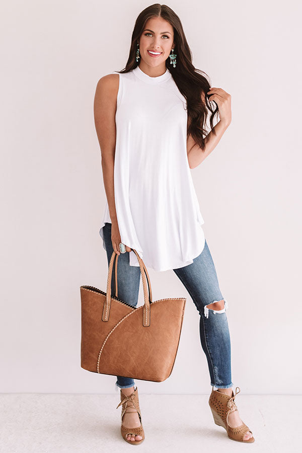 Beachy Beauty Shift Tank in White
