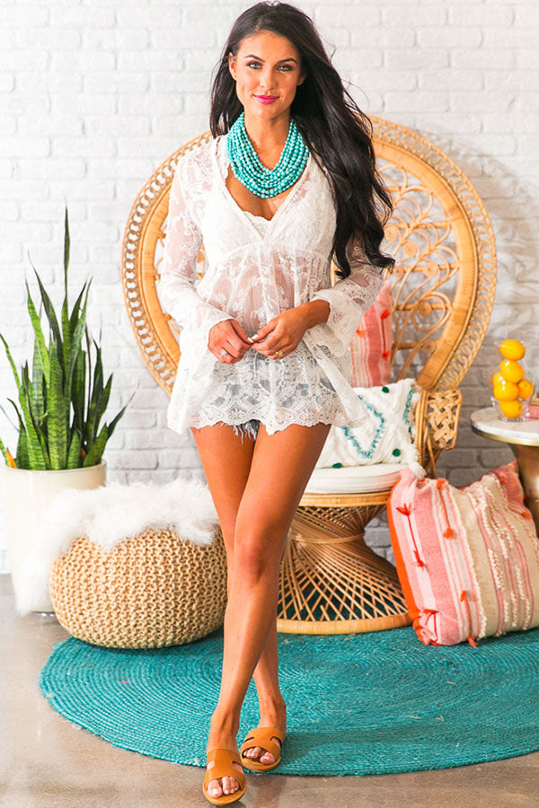 Take Me To The Beach Lace Top