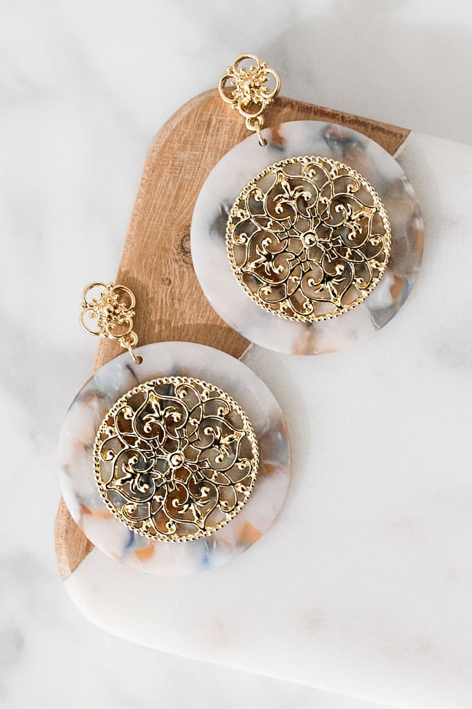 Brunch And Bubbly Earrings In Slate