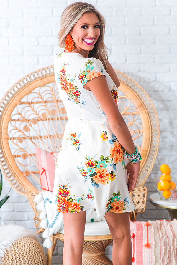 Sweet Tea Sippin' Wrap Dress