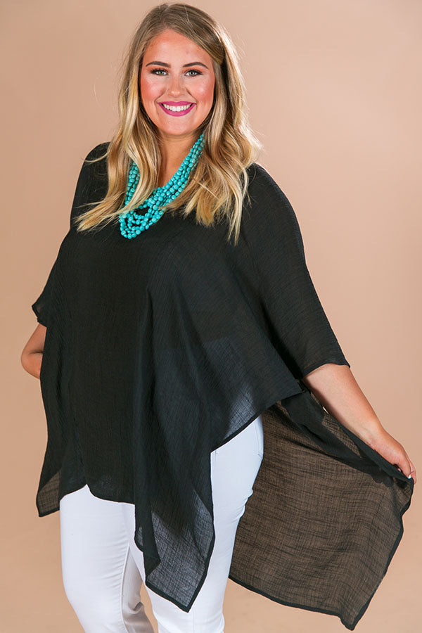 Hello Bombshell Shift Tunic In Black