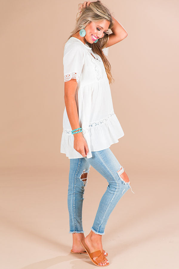 Calls For Margs Tunic In White