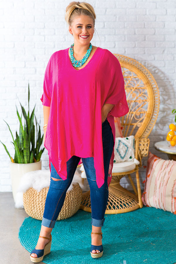 Hello Bombshell Shift Tunic In Pink