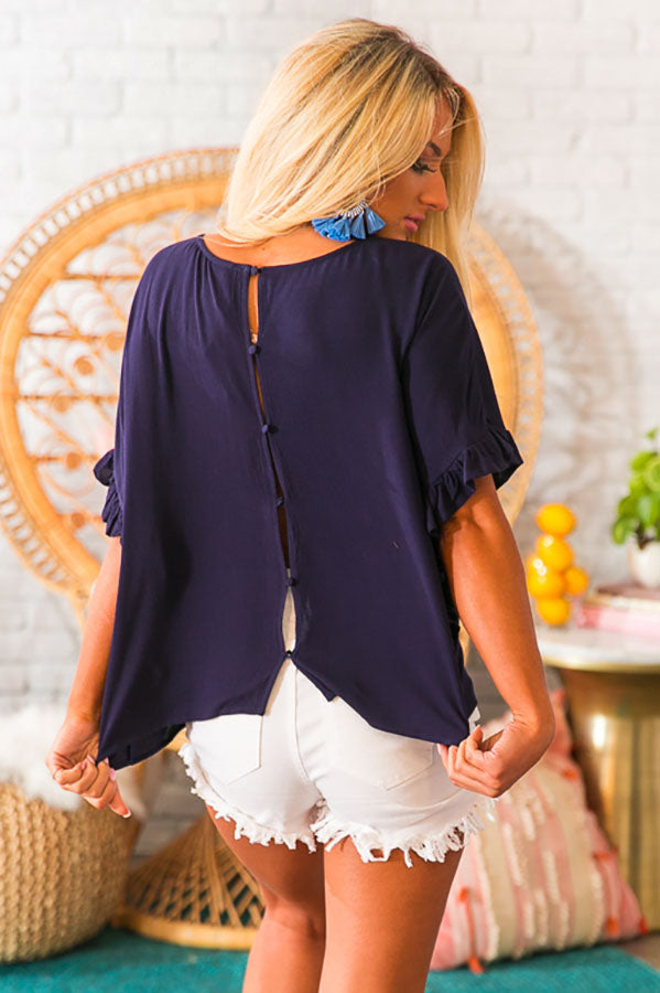 Another Haute One Shift Top In Navy