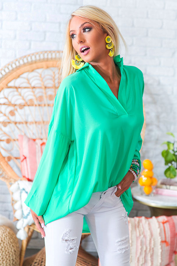 Montego Shift Tunic in Emerald