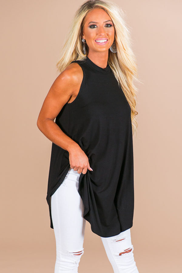 Beachy Beauty Shift Tank in Black
