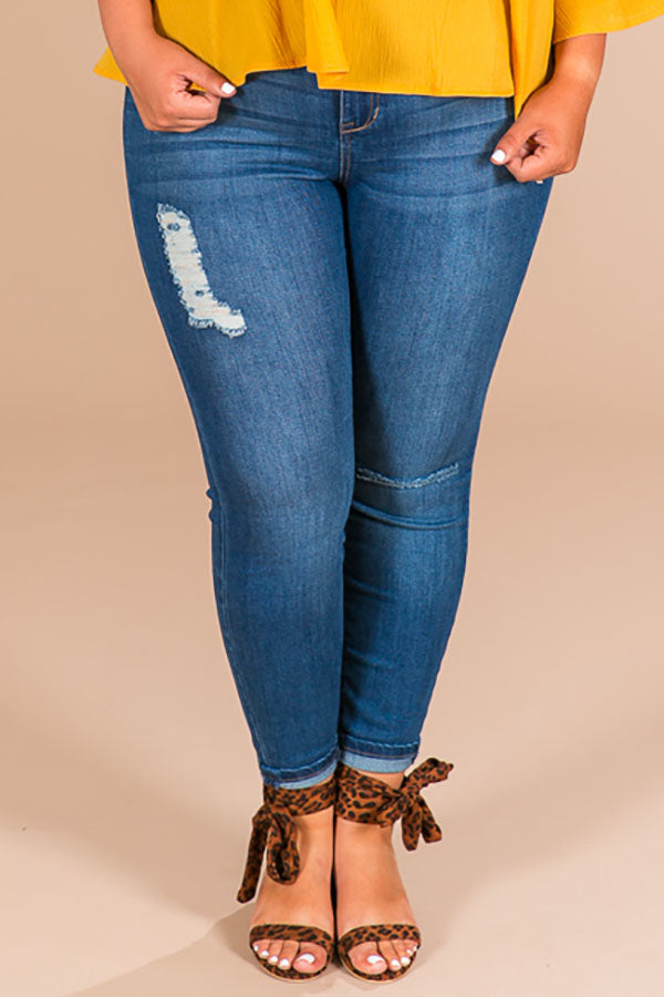 Key West High Waist Distressed Skinny