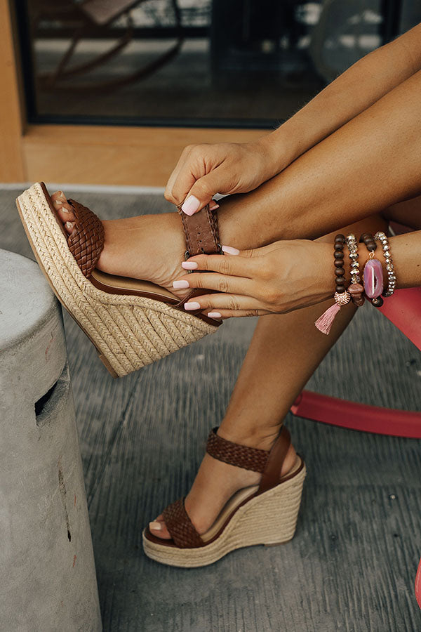 The Olivia Wedge in Brown