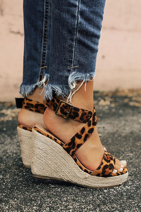 The Malibu Wedge in Leopard