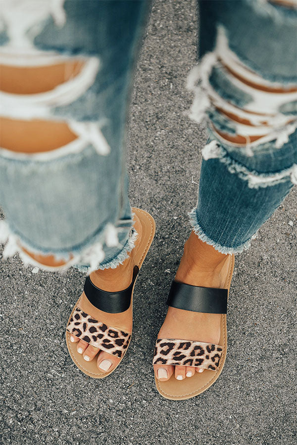 The Haven Leopard Sandal