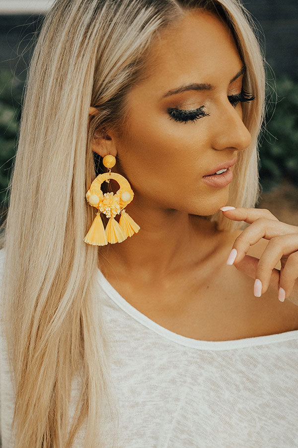 Cabana Baby Tassel Earrings In Yellow