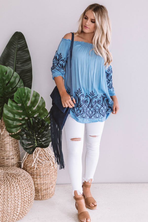 Brunch On The Weekend Embroidered Tunic