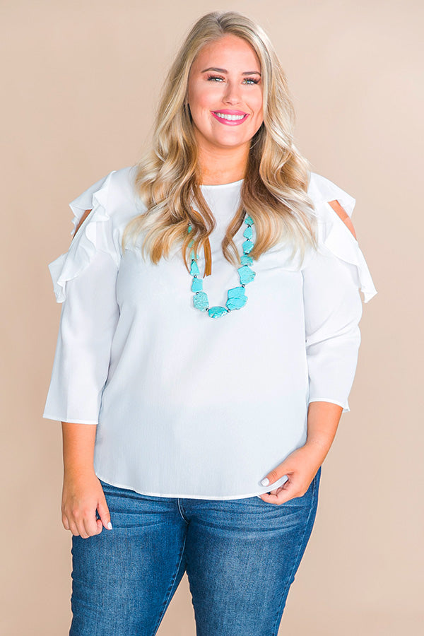 Only In Paradise Shift Top in Ivory