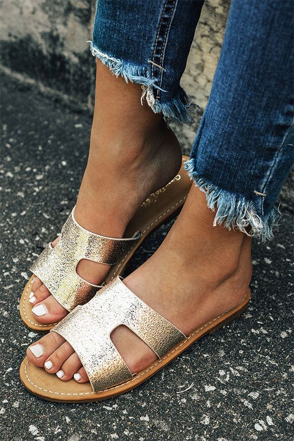 The CeCe Metallic Sandal