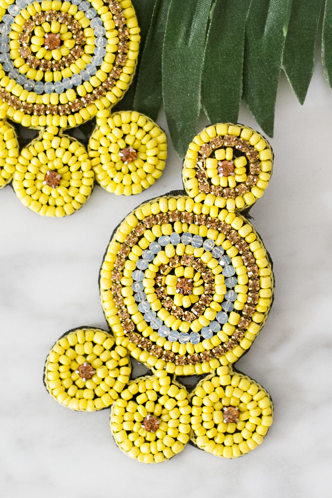 Pool Party Earrings In Yellow