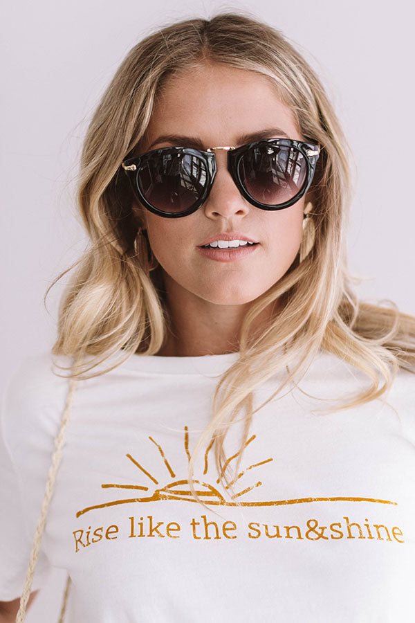 Cabana Retreat Sunnies in Black