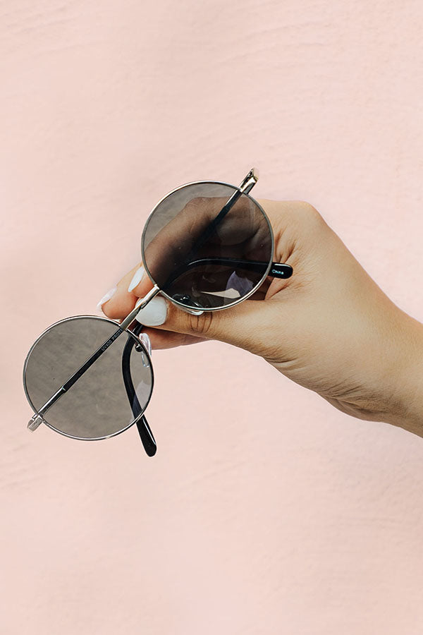 Around We Go Sunnies in Silver