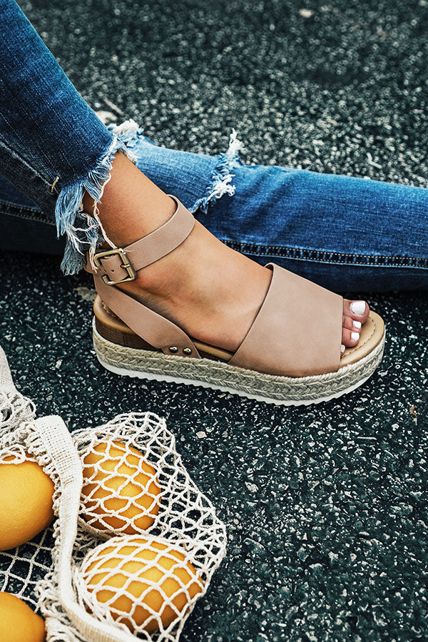 The Brighton Espadrille in Taupe