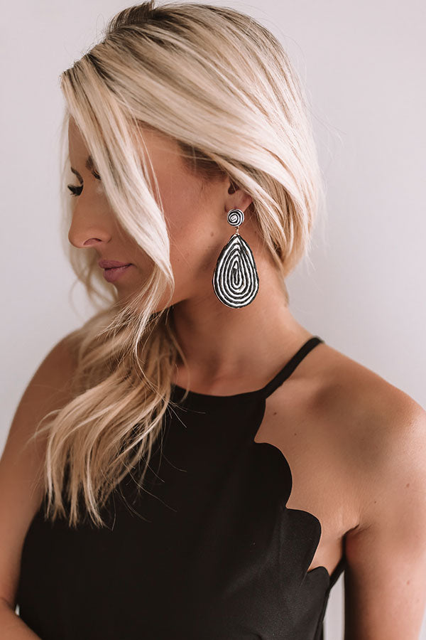 Santorini Swirl Earrings In Black