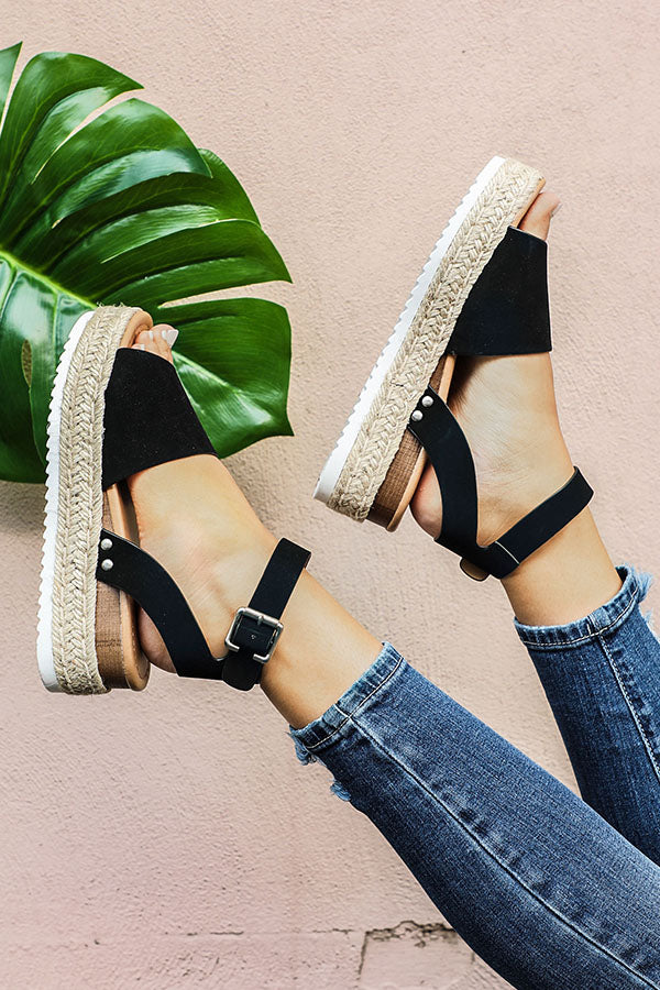 The Brighton Espadrille in Black