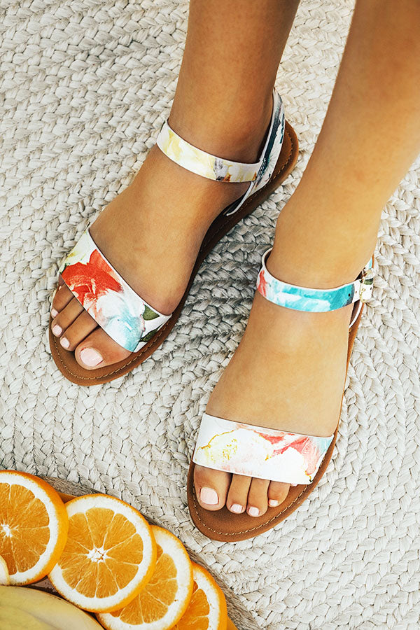 The Jules Floral Sandal