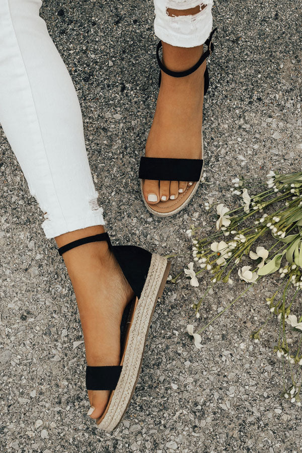 The Roslyn Espadrille in Black