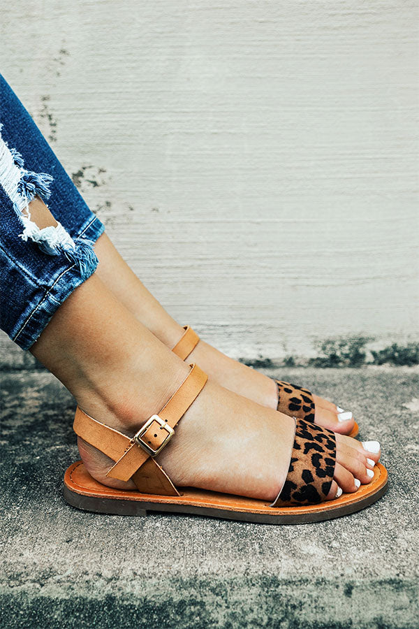 The Lola Leopard Sandal