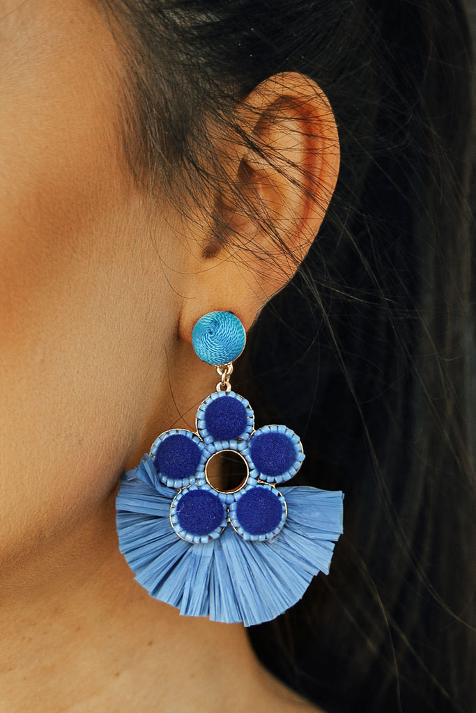 Mimosas In Maui Earrings In Airy Blue