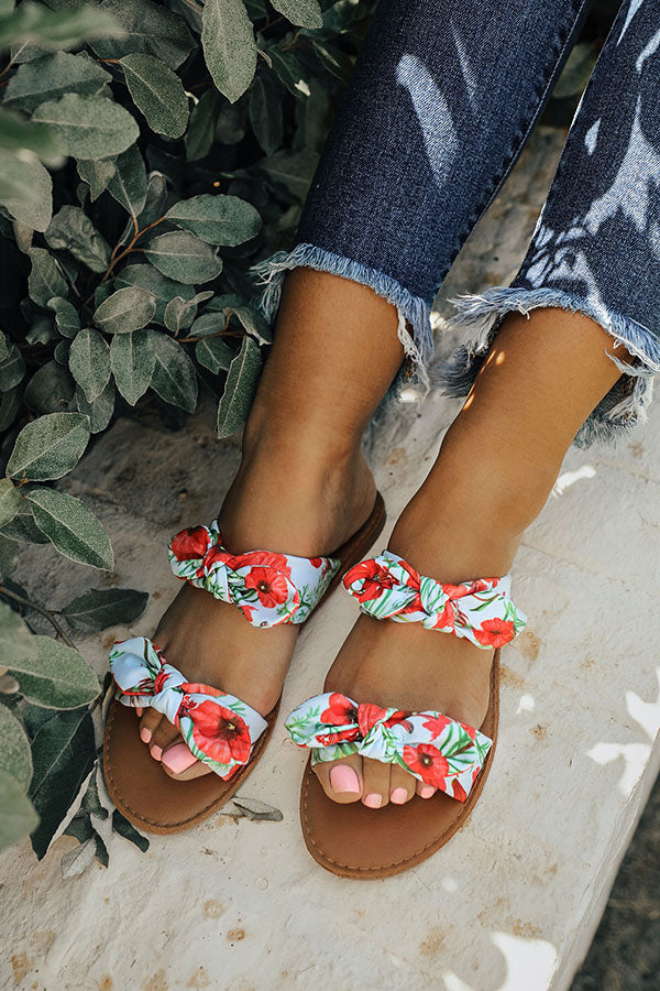 The Brinkley Floral Bow Sandal