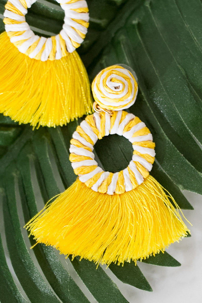 Passport To Paradise Earrings In Yellow