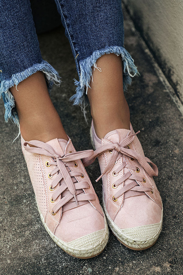 Seaside Sneaker In Blush