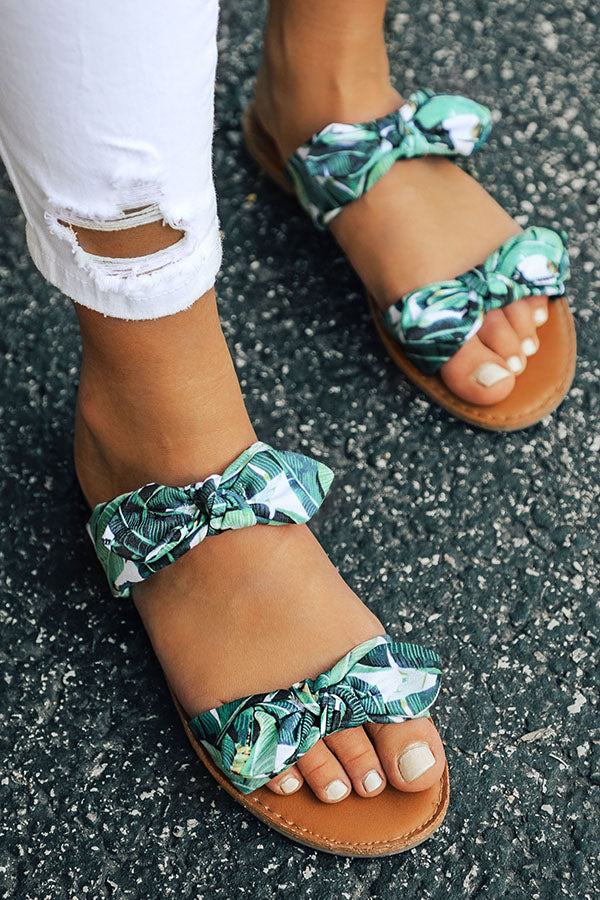 The Brinkley Tropical Bow Sandal