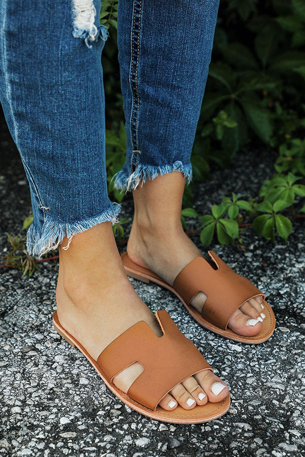 The Ella Sandal in Camel