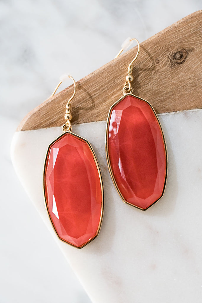 All Day Chic Earrings In Tangerine