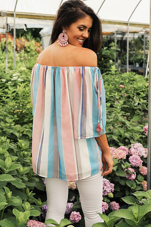 Sherbert Stripe Shift Top