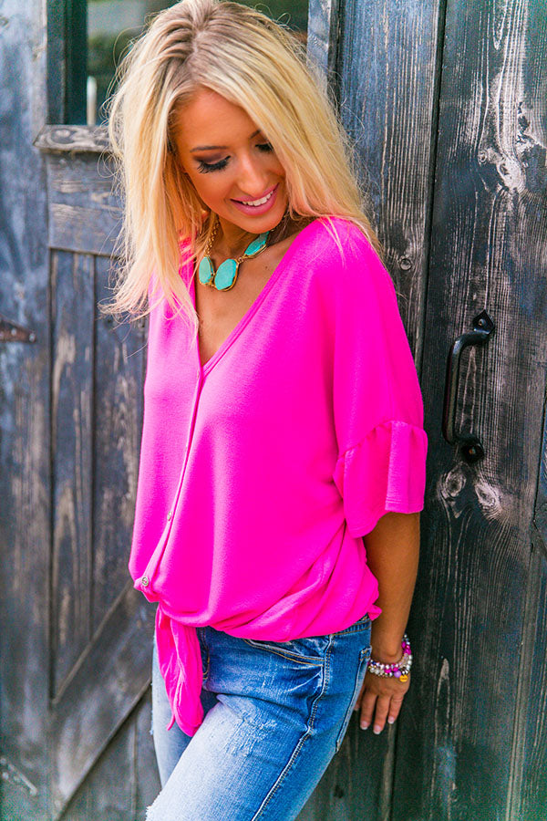 The Laguna Beach Shift Top In Pink